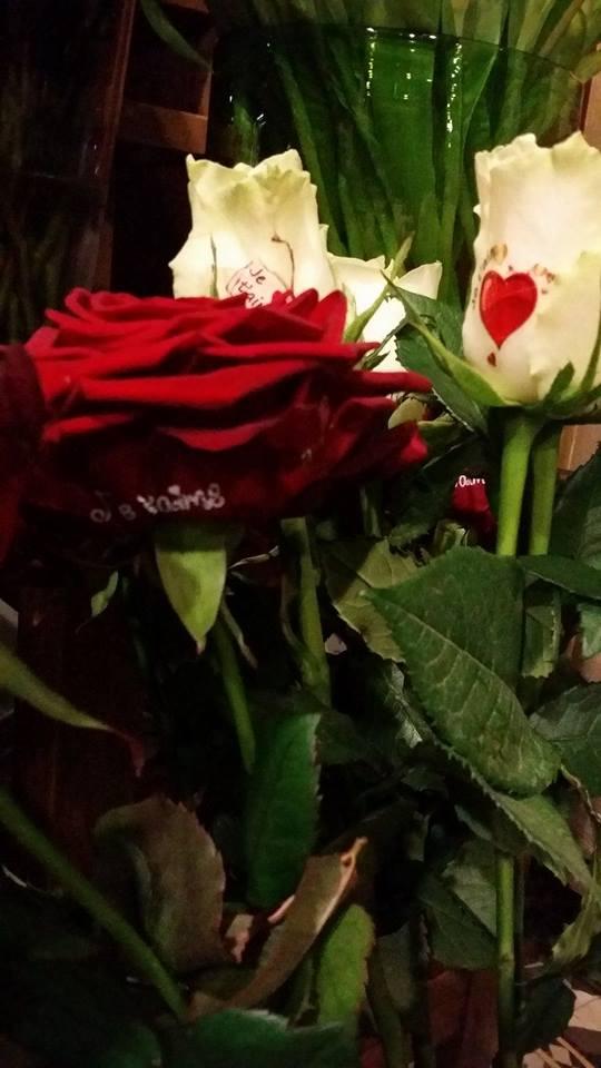 Saint Valentin 14 février 2018 fleuriste valenciennes rose amour bouquet hé fleur et moi