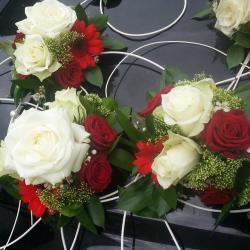 Mariage valenciennes bouquet de mariée voiture