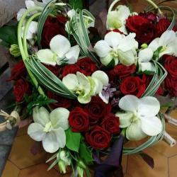 deuil enterrement valenciennes coeur fleurs fleuriste hé fleur et moi le Quesnoy Saint amant Denain