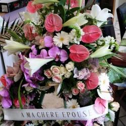 deuil couronne valenciennes enterrement fleurs fleuriste hé fleur et moi le Quesnoy Saint amant Denain