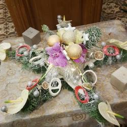 Art floral étoile de noël valenciennes fleurs fleuriste hé fleur et moi le Quesnoy Saint amant Denain