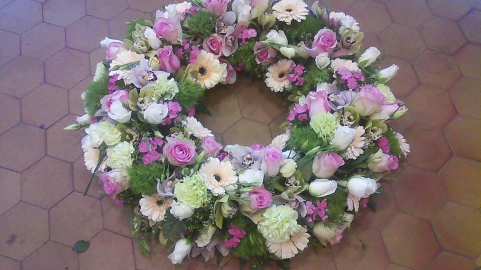 deuil couronne enterrement valenciennes fleurs fleuriste hé fleur et moi le Quesnoy Saint amant Denain