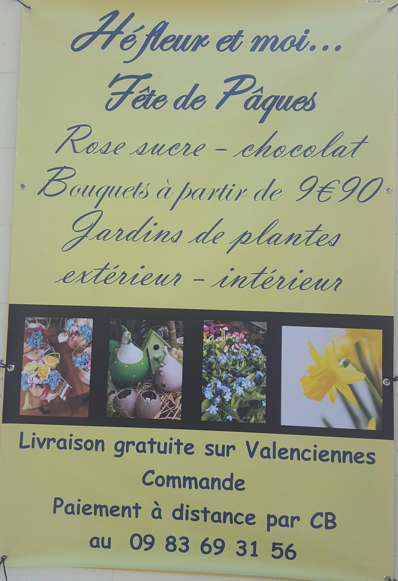 Fleuriste de Valenciennes Hé fleur et moi Pâques