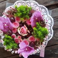 Gâteau de fleurs by Hé fleur et moi fleuriste de Valenciennes hainaut nord la Sentinelle anzin denain