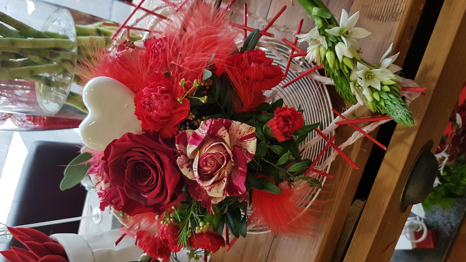 Art floral Valenciennes Hé fleur et moi fleuriste saint Valentin 2019