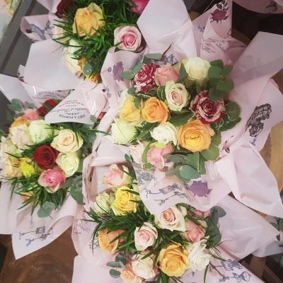 Bouquet de fleurs anniversaire naissance mariage chez hé fleur et moi fleuriste de Valenciennes bouquet