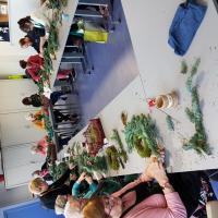 Art floral Valenciennes Hé fleur et moi fleuriste atelier décor couronne de l avent