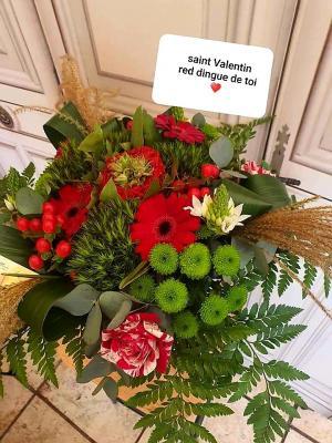 Bouquet de fleurs  chez hé fleur et moi fleuriste de Valenciennes saint Valentin