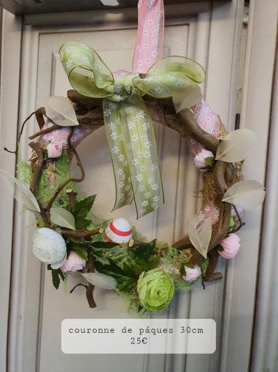 fleuriste valenciennes couronne de Pâques