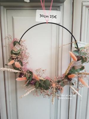 Cercle de fleurs sèchées Valenciennes