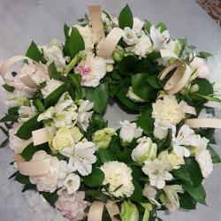 deuil valenciennes fleurs fleuriste hé fleur et moi couronne  le Quesnoy Saint amant Denain