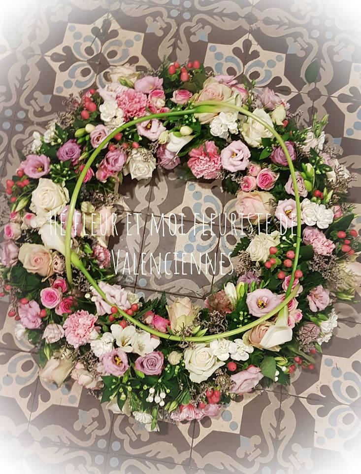 fleuriste Valenciennes Hé fleur et moi deuil couronne