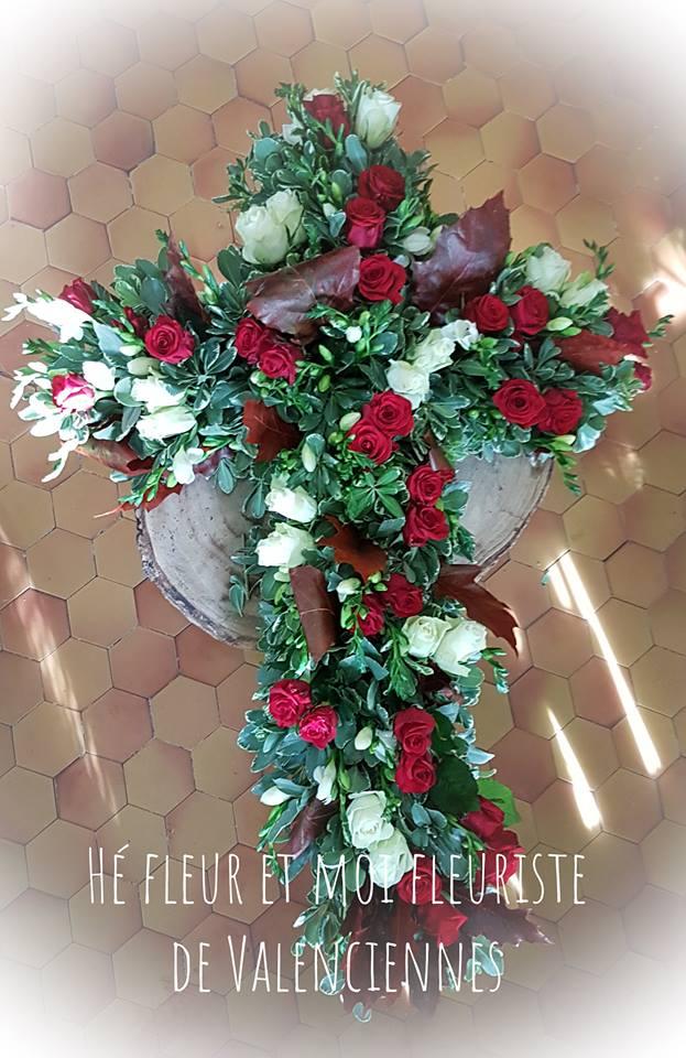 croix deuil valenciennes fleurs fleuriste hé fleur et moi le Quesnoy Saint amant Denain