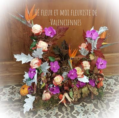 Devant de tombe Deuil by Hé fleur et moi fleuriste Valenciennes