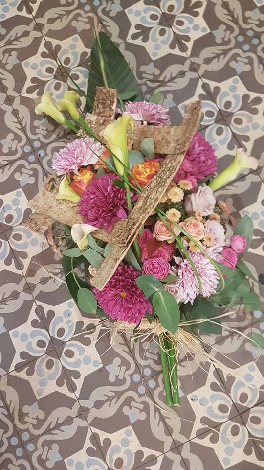gerbe fleuriste Valenciennes Hé fleur et moi