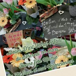 Atelier D'art Floral enfant bonne fête Mamie by Hé fleur et moi fleuriste valenciennes hainaut nord