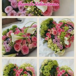 Coeur deuil Hé fleur et moi fleuriste valenciennes fleurs Denain Saint Amand Le Quesnoy nord Hainaut Anzin La sentinelle enterrement