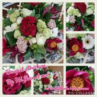 Bouquet structure Hé fleur et moi fleuriste Valenciennes Le Quesnoy