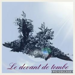 Devant de tombe deuil Hé fleur et moi fleuriste Valenciennes
