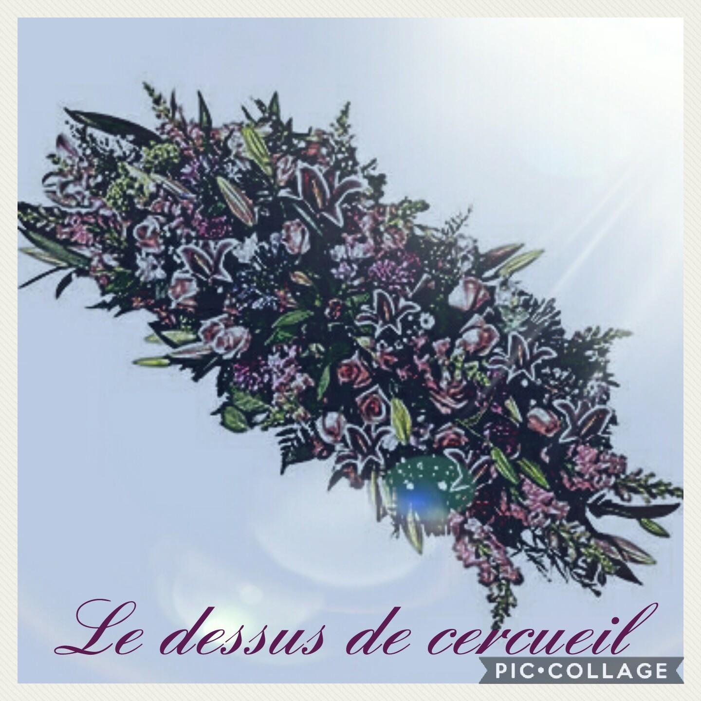 Dessus de cercueil deuil Hé fleur et moi fleuriste Valenciennes