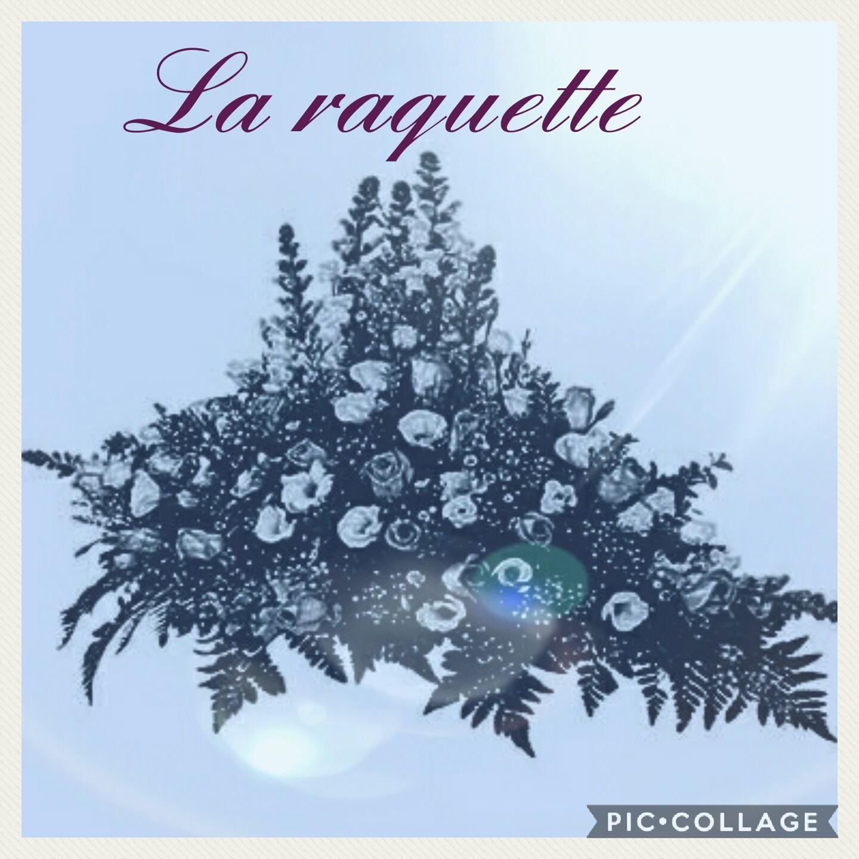 Raquette deuil Hé fleur et moi fleuriste Valenciennes