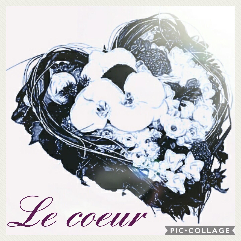 Coeur deuil Hé fleur et moi fleuriste valenciennes fleurs Denain Saint Amandine Le Quesnoy