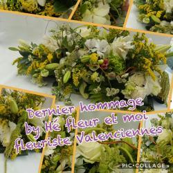 Dernier hommage deuil by Hé fleur et moi fleuriste Valenciennes nord Hainaut enterrement