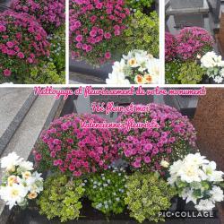 Entretien toussaint fleuriste tombe nettoyage et fleurissement de votre monument Valenciennes