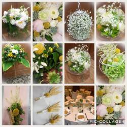 Mariage yellow champêtre par Hé fleur et moi fleuriste de Valenciennes bouquet