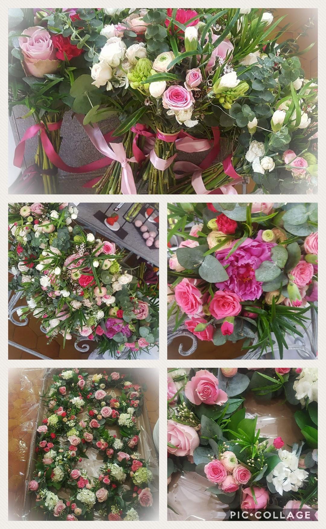 Mariage rose chic by hé fleur et moi fleuriste de Valenciennes bouquet
