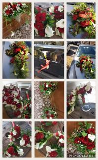 Mariage rose rouge et arum by hé fleur et moi fleuriste deValenciennes bouquet
