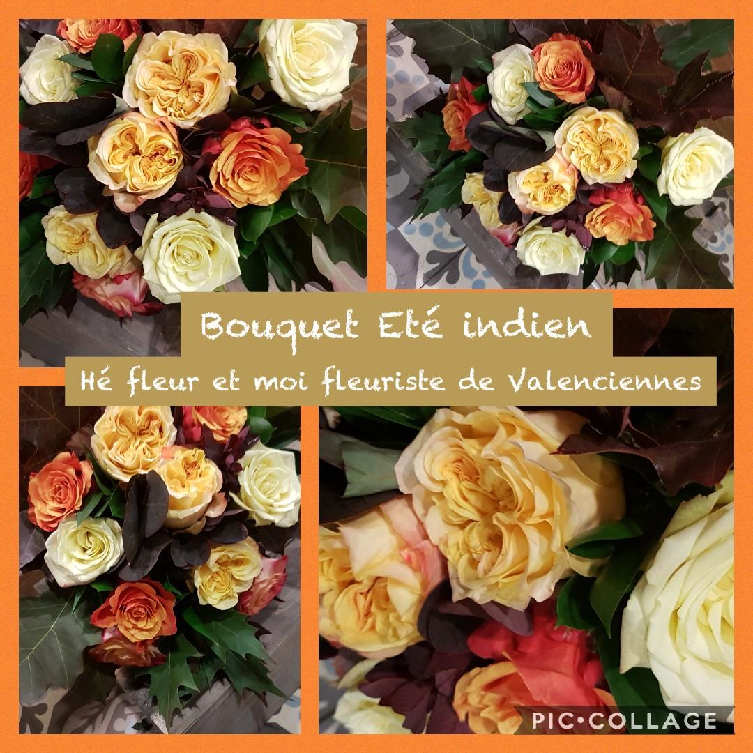 Le bouquet été Indien chez hé fleur et moi fleuriste de Valenciennes