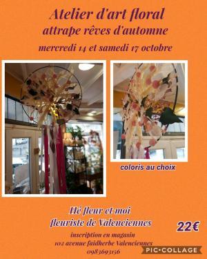 Art floral Valenciennes Hé fleur et moi fleuriste atelier attrape rêve