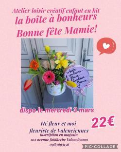 Art floral Valenciennes Fête des grand-mères