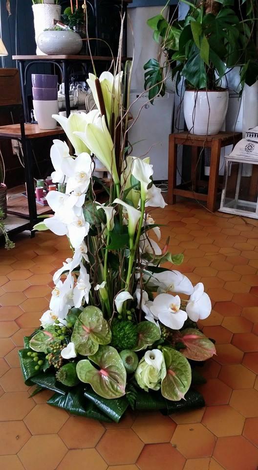 Coussin conique deuil enterrement by hé fleur et moi fleuriste Valenciennes nord Hainaut