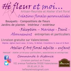 Hé fleur et moi fleuriste Valenciennes deuil - art floral - bougie parfumée  - Mariage- Réception Valenciennes