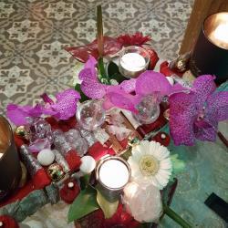 Centre de table Noël by Hé fleur et moi fleuriste valenciennes