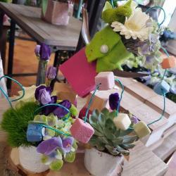 Atelier D'art Floral enfant bonne fête PApa by Hé fleur et moi fleuriste valenciennes