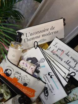 Trousse à masque Panier des sens idée cadeau Noël Hé fleur et moi fleuriste de Valenciennes