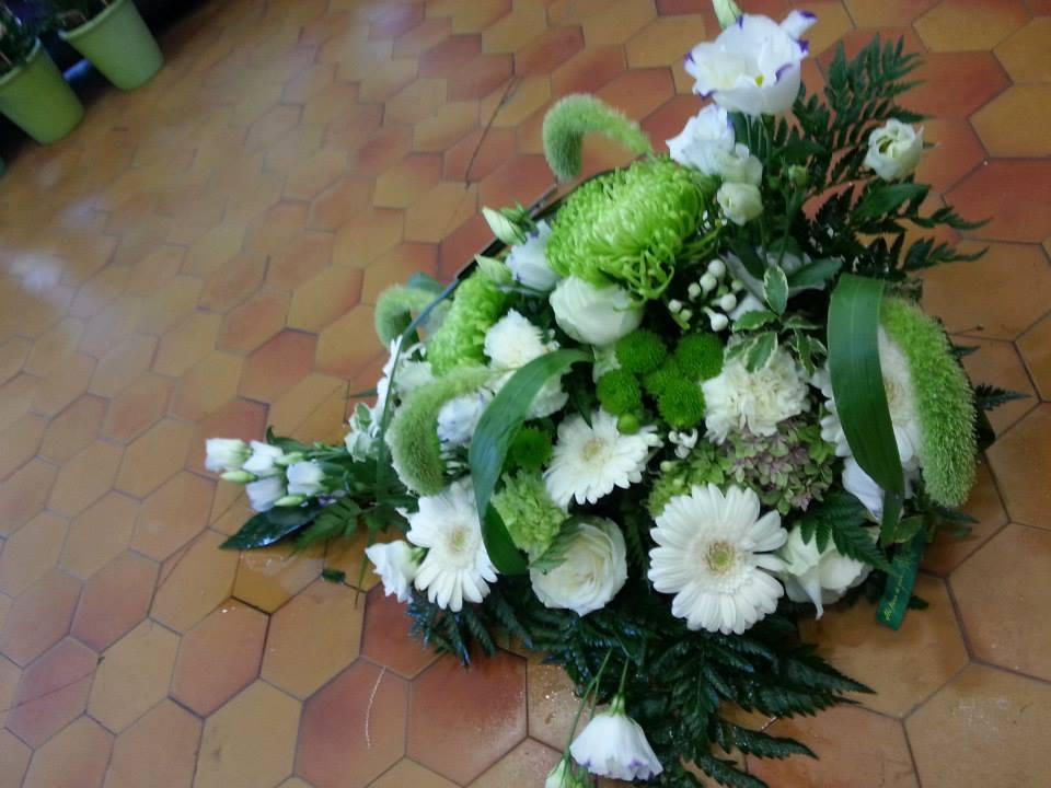 Gerbe vert et blanc 1