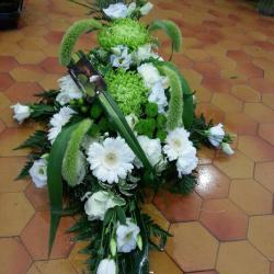 Gerbe vert et blanc 2