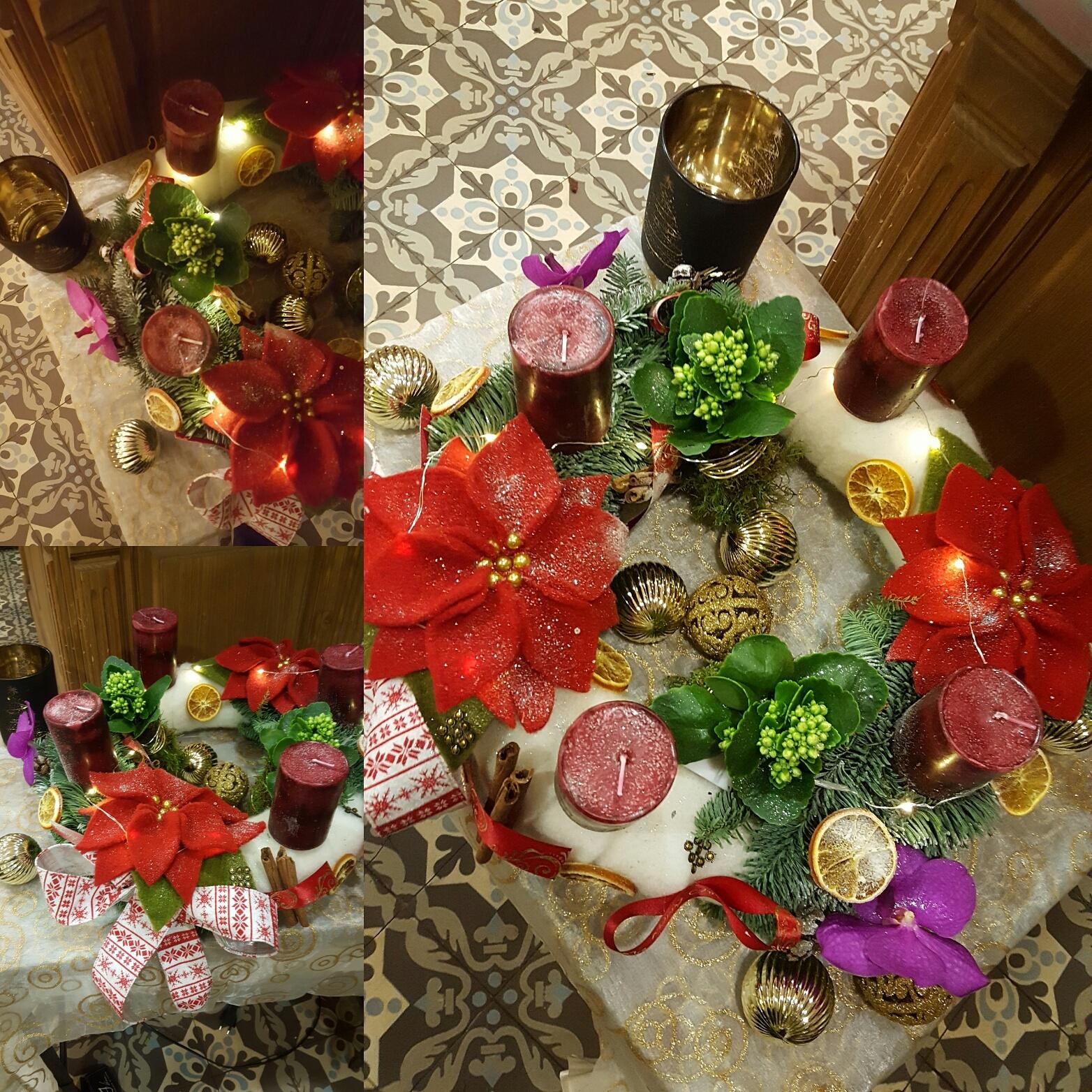 Noël couronne de l'Avent art floral Hé fleur et moi fleuriste valenciennes