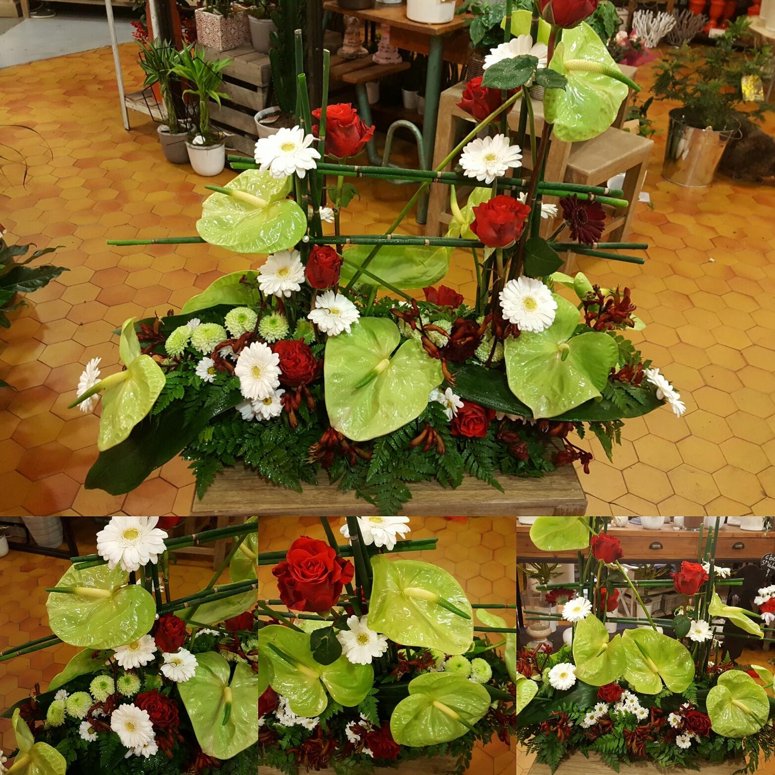 Deuil Dernier hommage coussin moderne by Hé fleur et moi #fleuriste #valenciennes #deuil #fleur #dernierhommage #lequesnoy #saintamand #denain