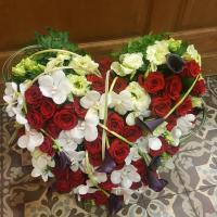 Coeur deuil Hé fleur et moi fleuriste valenciennes fleurs Denain Saint Amand nord Hainaut enterrement  Le Quesnoy