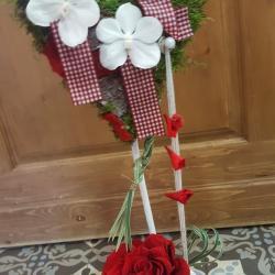 Coeur saint Valentin fleuriste Valenciennes rose rouge Hé fleur et moi Valenciennes fleuriste Valenciennes fleuriste