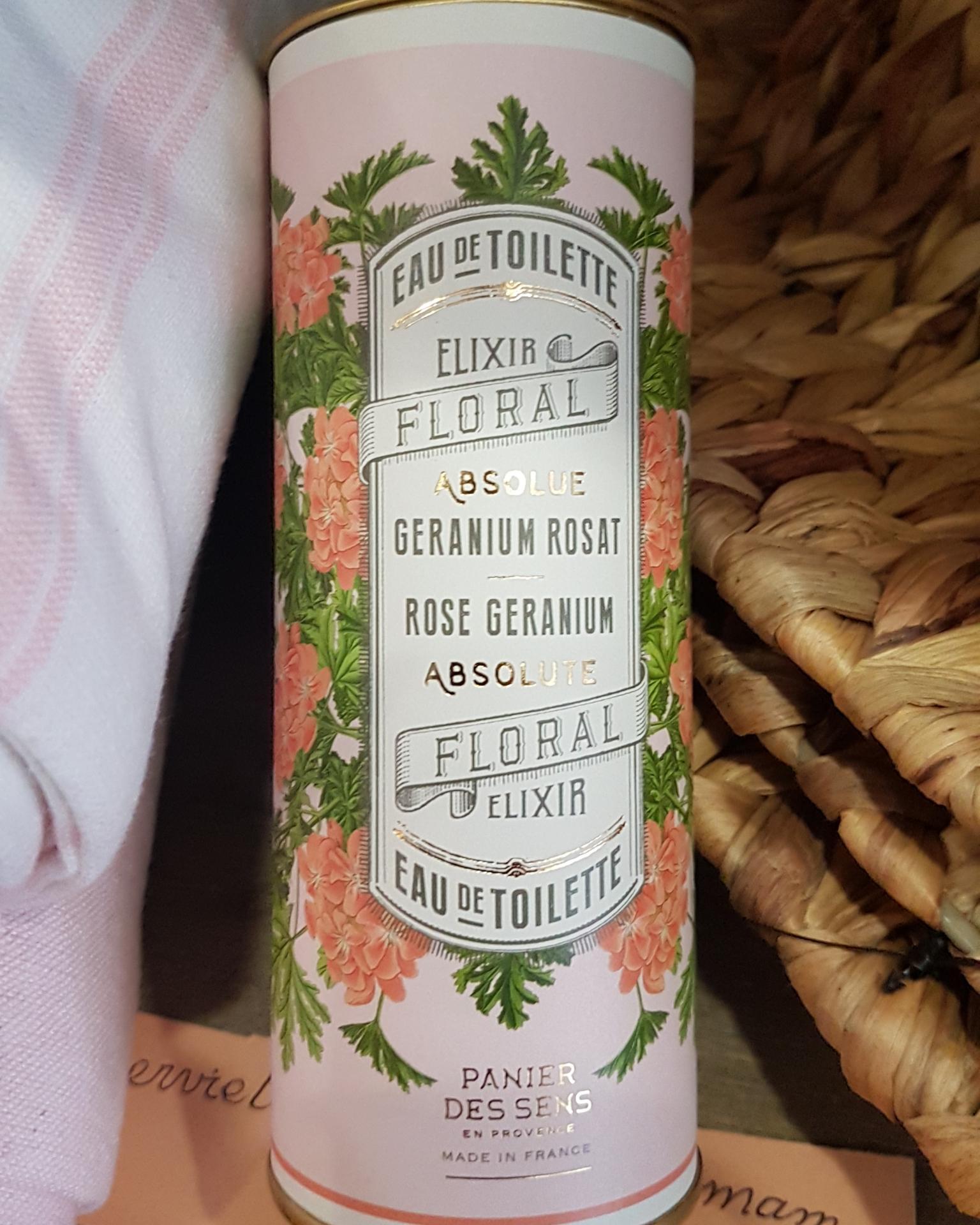Elixir floral absolue geranium rosat panier des sens bien-être naturel chez hé fleur et moi fleuriste de Valenciennes