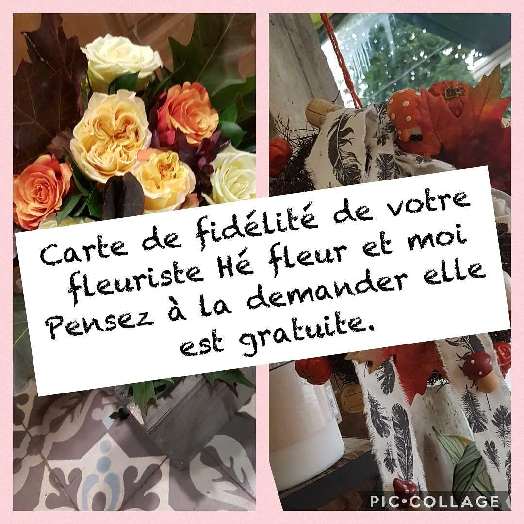 Fleuriste Valenciennes carte de fidélité gratuite HÉ FLEUR ET MOI