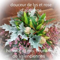 fleuriste de Valenciennes hé fleur et moi bouquet de lys et de roses