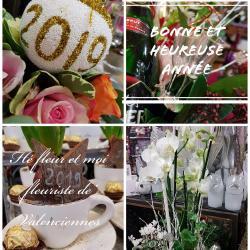 Bonne et heureuse année 2019 by hé fleur et moi fleuriste de Valenciennes