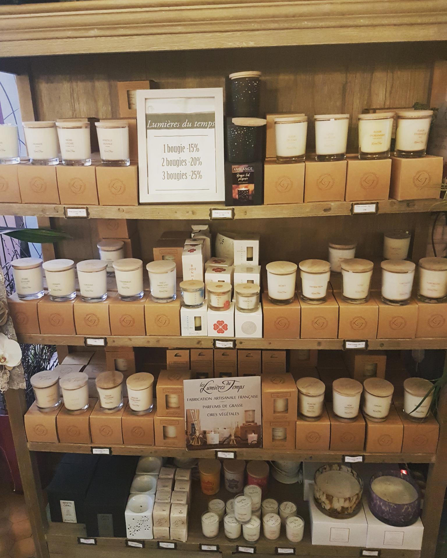 Bougies parfumées lumières du temps offre promotionnelle Valenciennes